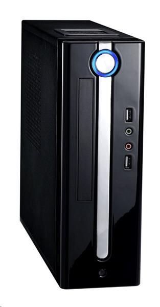 Eurocase skrinka Mini ITX WI-10 EVO, 2xUSB3.0, audio, bez zdroja, čierna