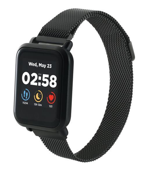 Canyon CNS-SW73BB Sanchal smart hodinky, BT, farebný LCD displej 1.3´´, vodotesné IP68, multišport režim, 2 náramky