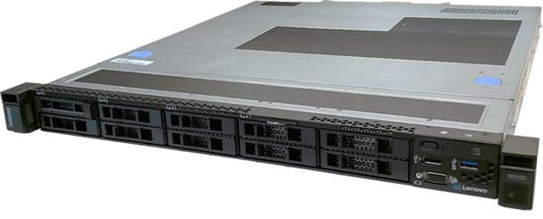Lenovo Server SR250, 1xIntel Xeon E-2124 4C 3.3GHz 71W, 1x8GB 1Rx8, SW RD, 4 / 4SS LFF, 1x300W FIX,