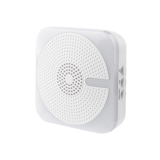 Solight bezdrôtový zvonček, do zásuvky, 200m, biely, svetelná signalizácia, learning code