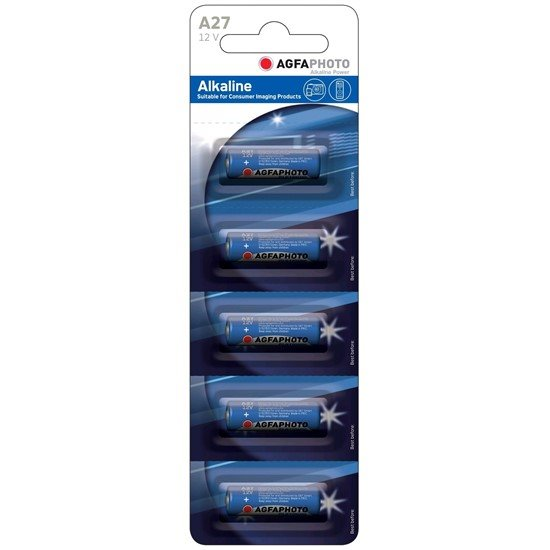 AgfaPhoto alkalická batéria 12V, 27A-LR27A, blister 5ks