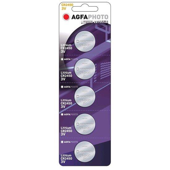 AgfaPhoto gombíková lithiová batéria 3V, CR2450, blister 5ks