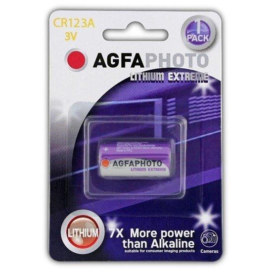 AgfaPhoto lithiová foto batéria 3V, CR123A, blister 1ks