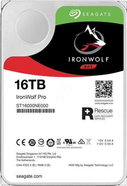 Seagate IronWolf Pro NAS HDD 16TB + Rescue 7200RPM 256MB SATA 6Gbit/s