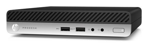 HP ProDesk 400 G5 DM, i3-9100T, IntelHD, 8GB, SSD 256GB, noODD, W10Pro, 1-1-1, WiFi