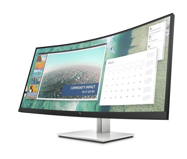 HP E344c Curved, 34.0 VA, 3440x1440, 3000:1, 4ms, 400cd, HDMI/DP/USB-C, 3y