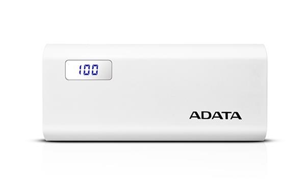 A-DATA Power Bank P12500D, 12500mAh, biely