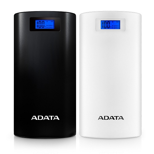A-DATA Power Bank P20000D, 20000mAh, biely