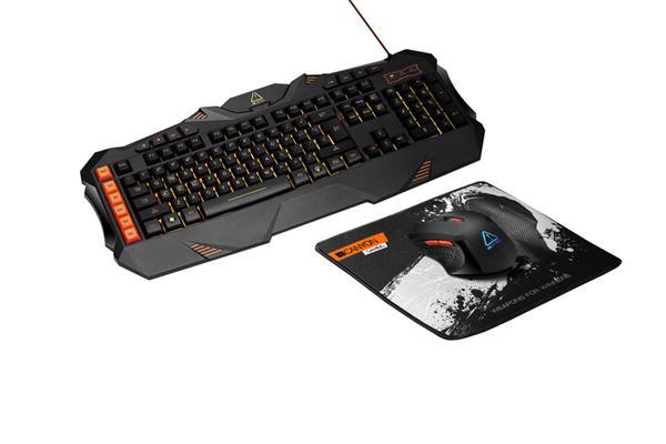 Canyon CND-SGS01-US Leonof herná sada drôtová klávesnica (US) + drôtová myš + podložka pod myš