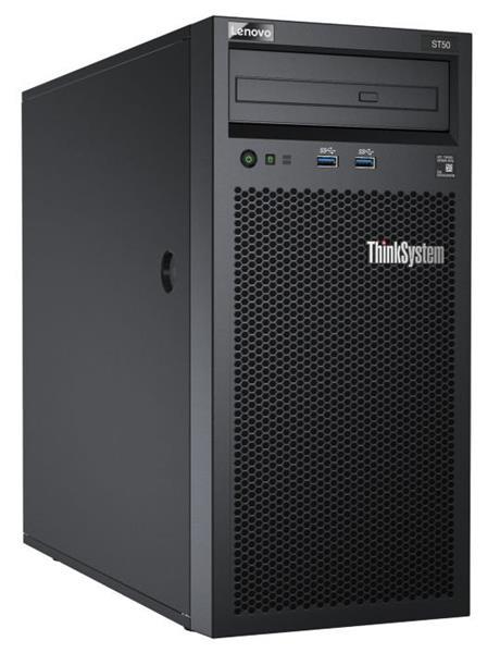 Lenovo Server ST50 Xeon E-2144G (4C 3.6GHz 8MB Cache/71W) 8GB(1x8GB, UDIMM), 2x1TB SATA HDD, SATA RAID, 1x250W, AMT, S