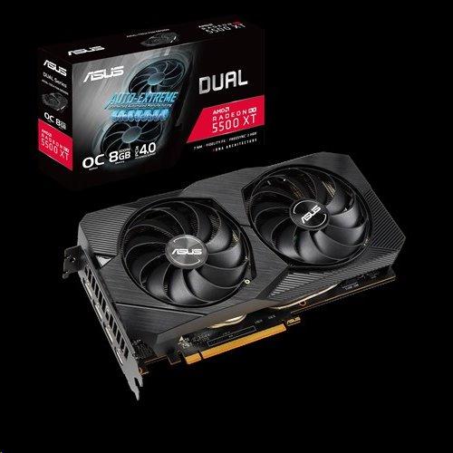 ASUS DUAL-RX5500XT-O8G-EVO 8GB/128-bit GDDR6 HDMI 3xDP