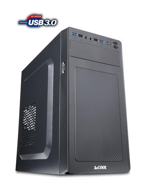 1stCOOL STEP 3, ver.2, skrinka mATX, 2x USB3.0 + 2x USB2.0 čierna
