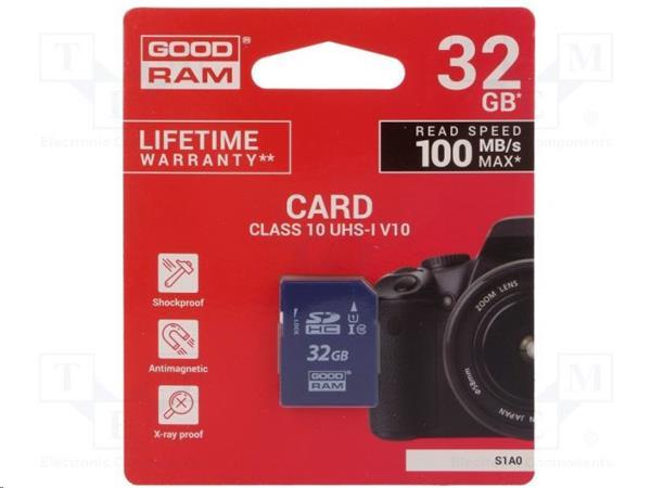32 GB . SDHC karta GOODRAM Class 10 UHS I