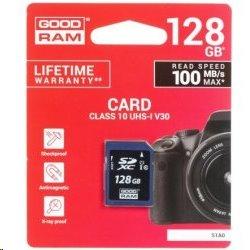 128 GB . SDHC karta GOODRAM Class 10 UHS I