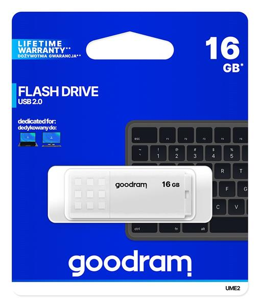 16 GB . USB kľúč . GOODDRIVE Biela