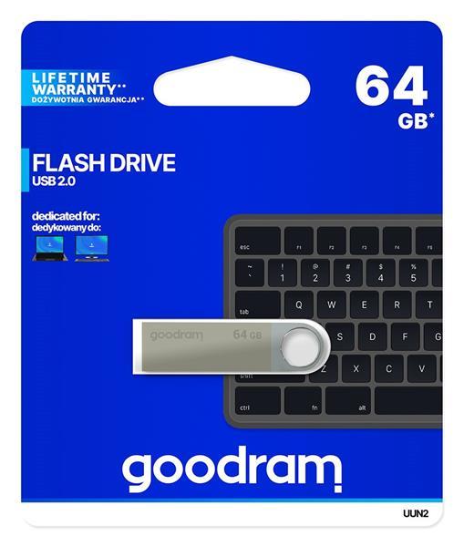 64 GB . USB kľúč . GOODDRIVE UNITY strieborná