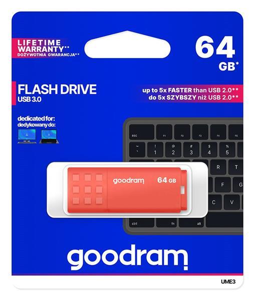 64 GB . USB 3.0 kľúč . GOODDRIVE EME3 oranžový