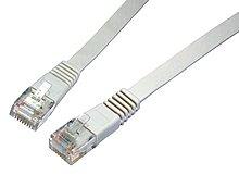 OEM patch kábel Cat6, UTP, LSOH - 10m , šedý, plochý