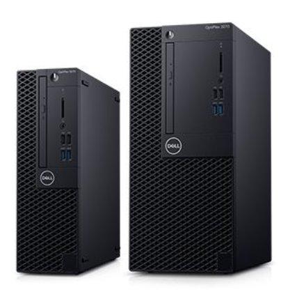 Dell Optiplex 3070 MT/Core i3-9100/8GB/256GB SSD/Intel UHD 630/DVD RW/Kb/Mouse/260W/W10Pro/3Y Basic Onsite