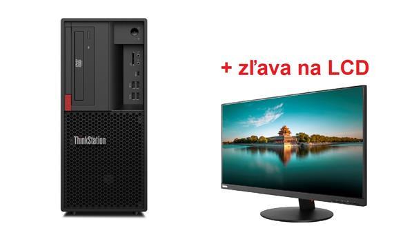 Lenovo TS P330 2gen TWR i5-9400 4.1GHz UMA 8GB 256GB SSD DVD W10Pro cierny 3y OS