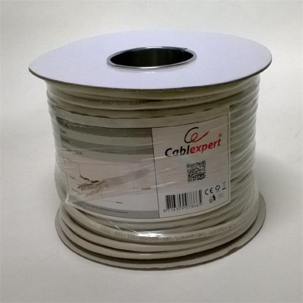 Gembird LAN kábel CAT6, FTP, CCA vodiče, 100 m, šedý