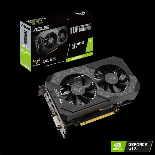 ASUS TUF-GTX1660S-O6G-GAMING 6GB/192-bit, GDDR6, DVI, HDMI, DP
