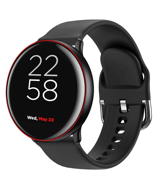 Canyon CNS-SW75BR Marzipan smart hodinky dámske, BT, fareb. LCD displej 1.22´´, IP68, multišport. režim, červeno-čier