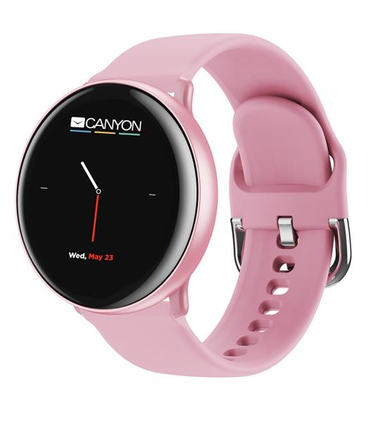 Canyon CNS-SW75PP Marzipan smart hodinky dámske, BT, fareb. LCD displej 1.22´´, IP68, multišport. režim, ružové
