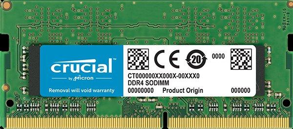 4GB DDR4 2666 MT/s (PC4-21300) CL19 SR x8 Crucial Unbuffered SODIMM 260pin