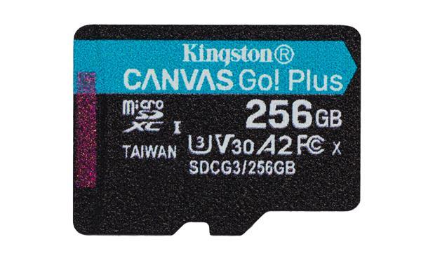256 GB . micro SDXC karta Kingston Canvas Go Plus, bez adaptéra
