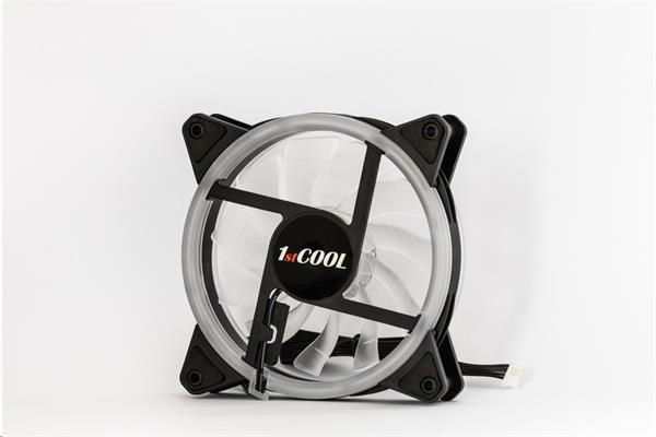 1stCOOL RAINBOW ARGB ventilátor 12cm, Dual Ring