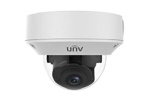 UNIVIEW IP kamera 2592x1520 (4 Mpix), až 20 sn/s, H.265, obj. motorzoom 2,8-12 mm (91-27°), PoE, DI/DO, audio, IR 30m