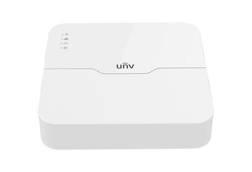 UNIVIEW NVR, 8 kanálů, H.265, 1x HDD, vstup FullHD (max 40Mbps), prohlížeč FullHD (Max 40 Mbps), HDMI + VGA Full HD