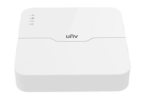 UNIVIEW NVR, 4 PoE (Max 54W) kanály, H.265, 1x HDD, vstup 6 Mpix (max 40Mbps), prohlížeč 6 Mpix (Max 40 Mbps)