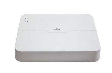 UNIVIEW NVR, 16 kanálů (8x PoE max 108W), H.265, 1x HDD, vstup 8 Mpix (max 60Mbps), prohlížeč 8 Mpix (Max 80 Mbps)