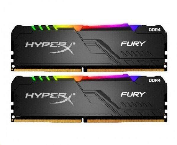 DDR 4.... 16GB . 2666MHz. CL16 HyperX FURY RGB Kingston (2x8GB)