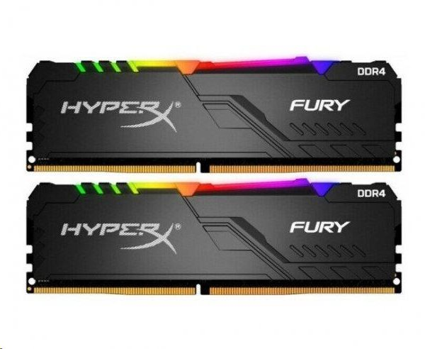 DDR 4.... 16GB . 3200MHz. CL16 HyperX FURY RGB Kingston (2x8GB)