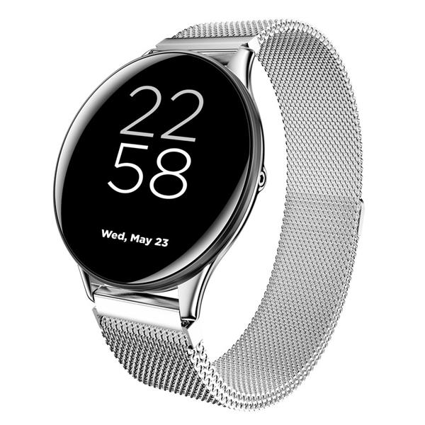 Canyon CNS-SW70SS Lemongrass smart hodinky, BT, fareb. IPS displej 1.3´´, vodotes. IP68, multišport. režim, strieborné