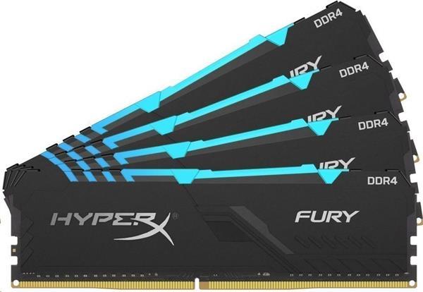 DDR 4.... 32GB . 2666MHz. CL16 HyperX FURY RGB Kingston (4x8GB)