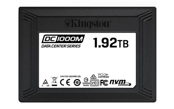 Kingston 1920GB SSD DC1000M PCIe Gen3 x4 NVMe U.2 ( r3100MB/s, w2600MB/s )