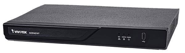 VIVOTEK ND9424P-V2 NVR, 16 PoE (max. 200W) kanálů, nahrávání 4K UHD (max 96Mpbs), 2x HDD (až 16TB), H.265, RAID 0,1