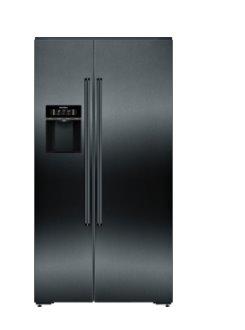 SIEMENS_Chladnička iQ700, Americká chladnička Side by Side, 177.8 x 91.2 cm, Black stainless steel