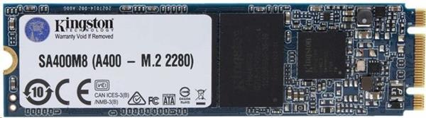 Kingston 480GB SSD A400 Series SATA3, M.2 2280 ( r500 MB/s, w450 MB/s )