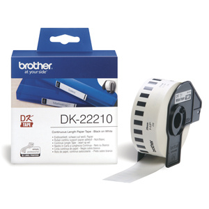 BROTHER DK22210 Continuous Paper Tape (Biela 29mm)