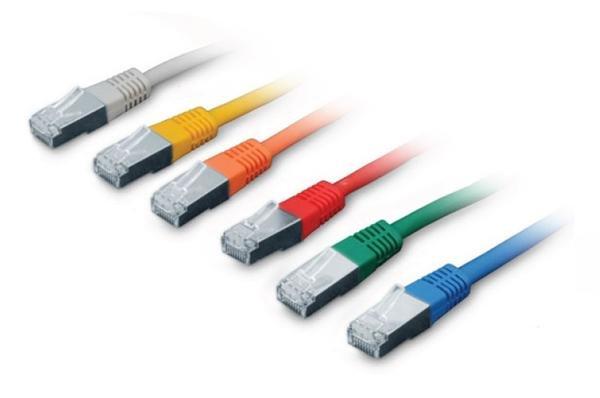 CNS patch kábel Cat5E, FTP - 1m , červený