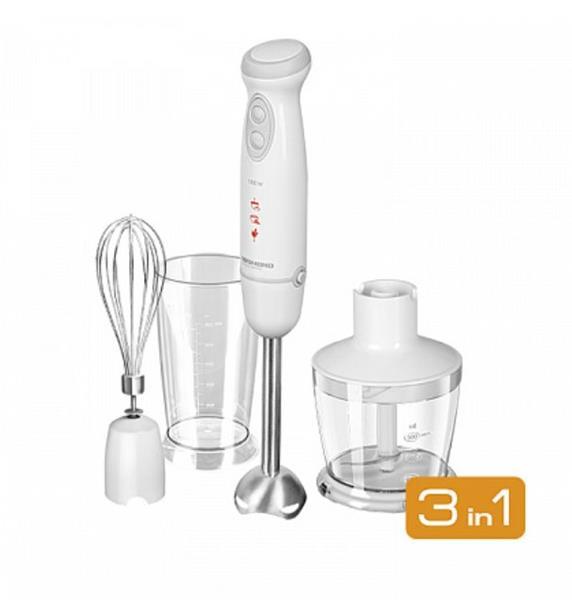 REDMOND Ručný mixér - multifunkčný domáci spotrebič 3v1 (miešač, mixér, krájač)