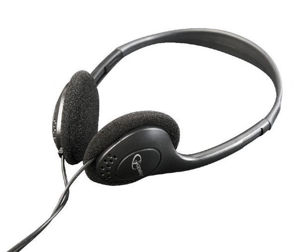 Gembird Stereo slúchadlá s ovládaním hlasitosti, 3.5 mm miniJack, čierne
