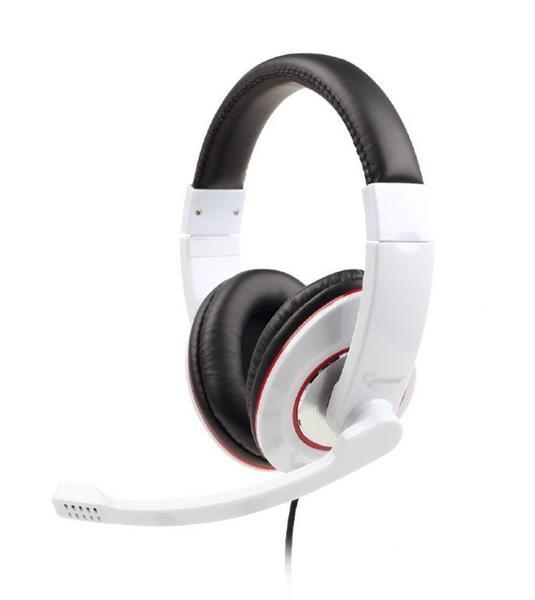 Gembird Stereo headset s mikrofónom, 2 x 3.5 mm miniJack, biely