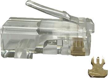 OEM UTP konektor OPTIX 8P8C, Cat.5e, drôt, balenie 100ks