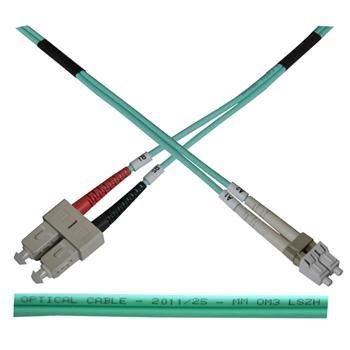 OEM opt. duplex kabel, MM, 50/125, LC/SC, LSOH, (OM3), 7m